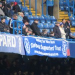 Chelsea Supporters Trust banner at Stamford bridge